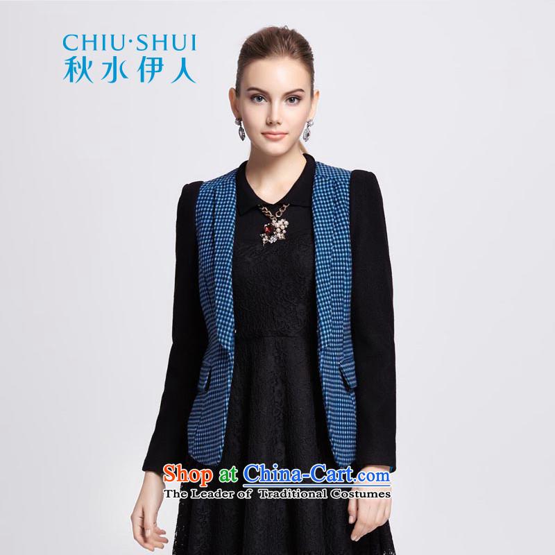 Chaplain who winter clothing new women's stylish stitching long-sleeved jacket coat?1341S120039 gross?blue?175/XXL?