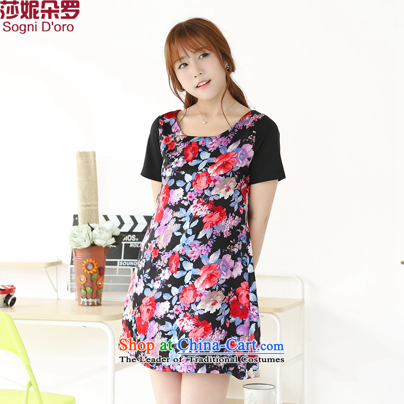 Special offers on the sister hypertrophy code women thick mm Summer 2014 loose video thin ice woven dresses 77086XL Pattern