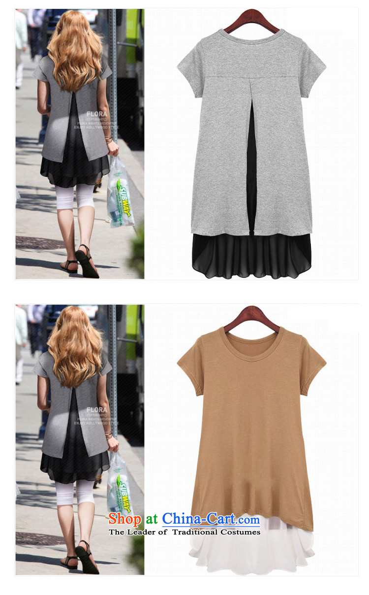 Shani flower, thick girls' Graphics thin, thick mm summer loose video thin large short-sleeved T-shirts female 9 402 light gray聽5XL picture, prices, brand platters! The elections are supplied in the national character of distribution, so action, buy now enjoy more preferential! As soon as possible.
