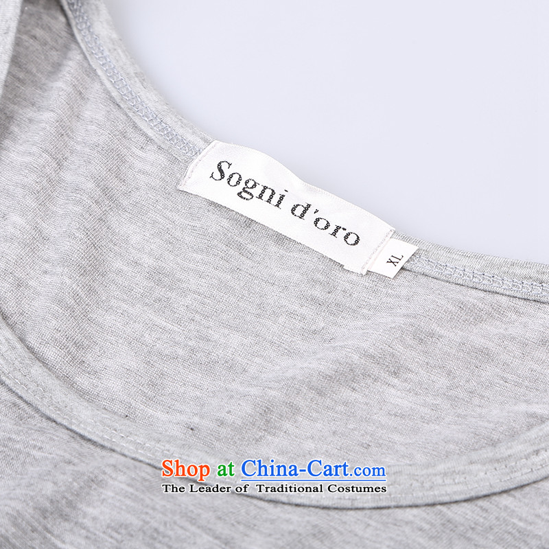 Shani flower, thick girls' Graphics thin, thick mm summer loose video thin large short-sleeved T-shirts female 9 402 light gray聽5XL, shani flower sogni (D'oro) , , , shopping on the Internet