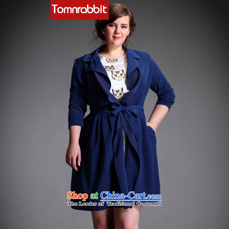 Large tomnrabbit female windbreaker spring 2015 New Product original design expertise mm Sau San video wild thin coats that long jacket, large green XXL