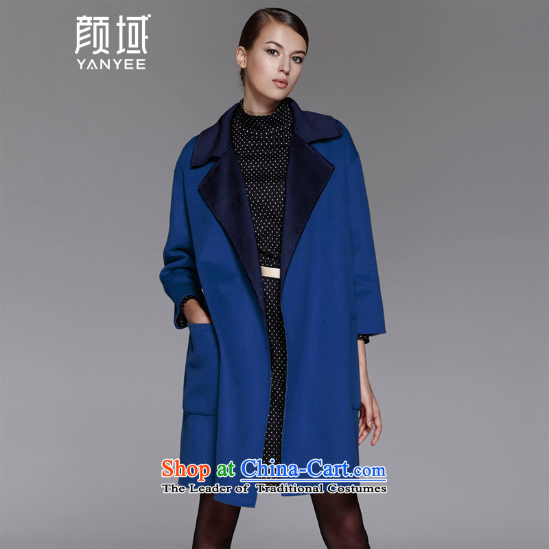 Mr NGAN domain 2015 autumn and winter female new products in large long woolen coat loose warm jacket04W4595 duplex gross?Po LanS_36