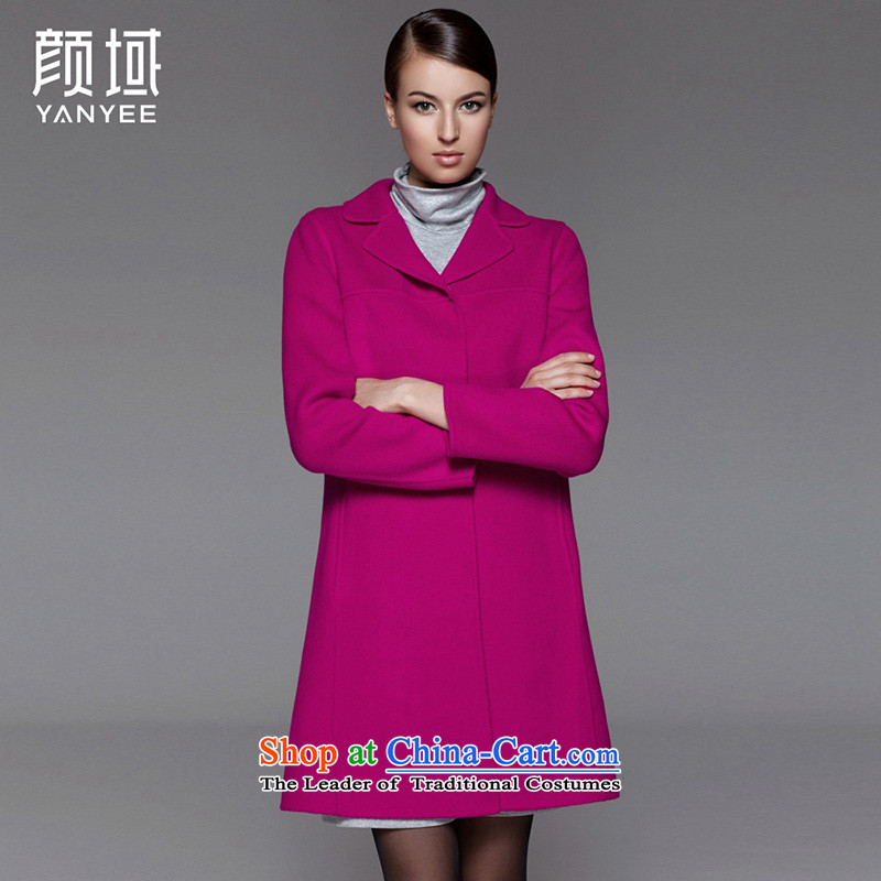 Mr NGAN domain 2015 autumn and winter new large decorated in the body of the girl long wool a wool coat duplex?04W4587 coat?of gross??L/40 red