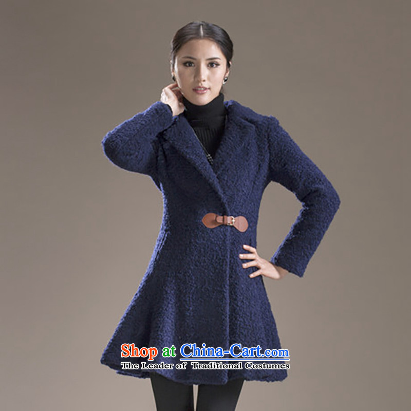 2013 Autumn and winter coatslamodin gross? in the medium to long term in Europe and America_? coats of Sau San leisure gross coats navy?M-165 Upgrade Version