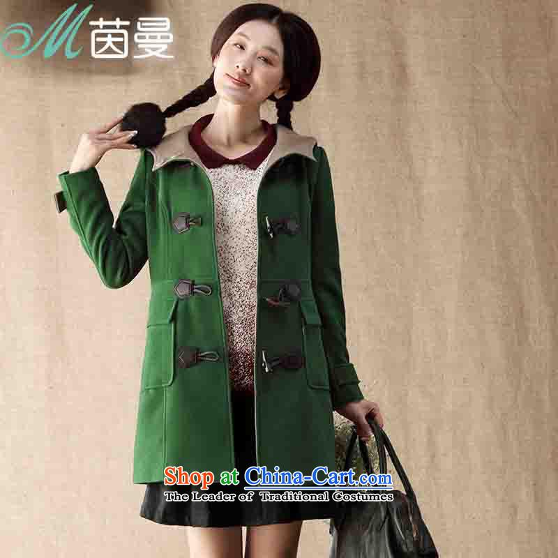 Athena Chu Cayman 2014 new_ long cap Gross Gross Jacket coat it? -8343200281 female health greenL