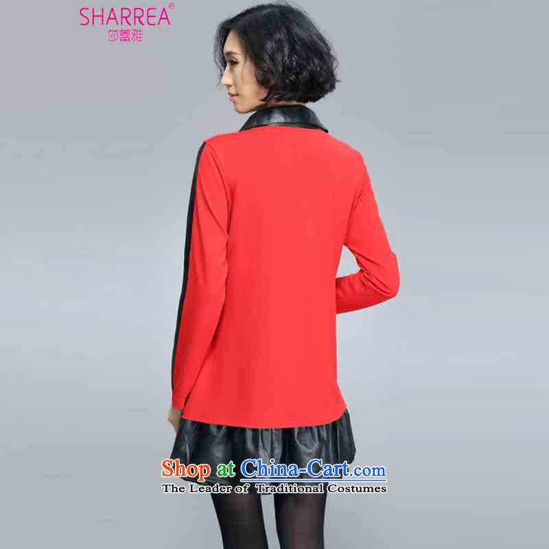 Sarah ya 2015 new ultra large leather lining for spell code series 0357 skirt red聽3XL, SARAH (SHARREA) , , , shopping on the Internet