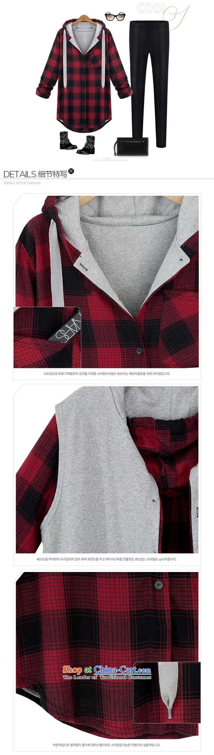 Five Rams City to xl women fall jackets thick relaxd casual shirts grid sister who thick women shirt thick mm light jacket coat cardigan 822 red patterned聽4XL Photo, prices, brand platters! The elections are supplied in the national character of distribution, so action, buy now enjoy more preferential! As soon as possible.