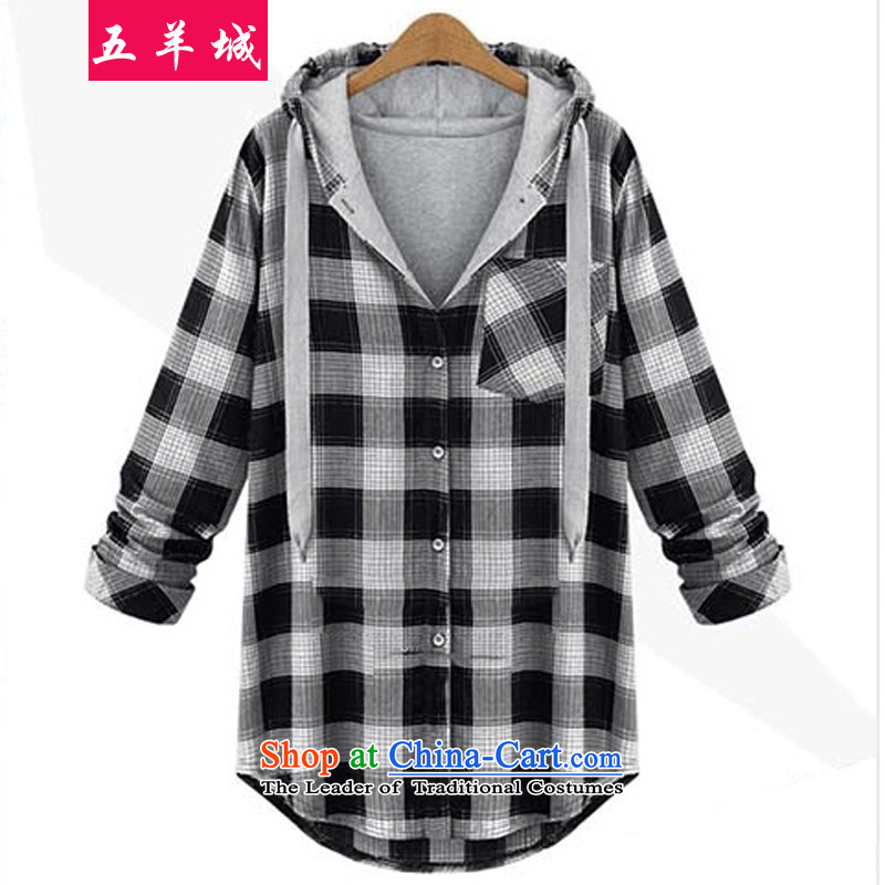 Five Rams City to xl women fall jackets thick relaxd casual shirts grid sister who thick women shirt thick mm light jacket coat cardigan 822 red checkered聽4XL, Five Rams City shopping on the Internet has been pressed.