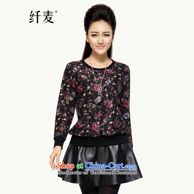The former Yugoslavia Migdal Code women 2015 winter clothing new stylish retro relaxd mm thick sweater female hedge�4083058燽lack safflower燲L