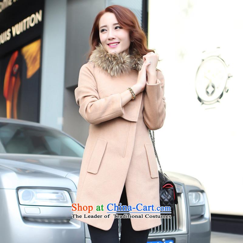 2013 WINTER new lamodin women's gross? jacket a wool coat Korean version of Sau San? and female coats grossL-170 color