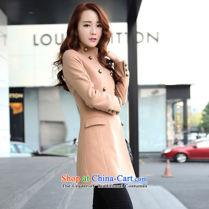 Lamodin2013 new women's winter coats Korean gross?   in the double-long coats gross and color XL-175?