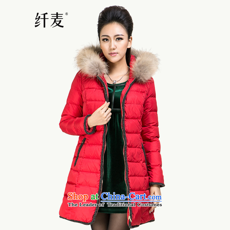 The former Yugoslavia Migdal Code women 2014 early autumn and winter new mm thick hair for leisure downcoat�4121031 in long爎ed�L