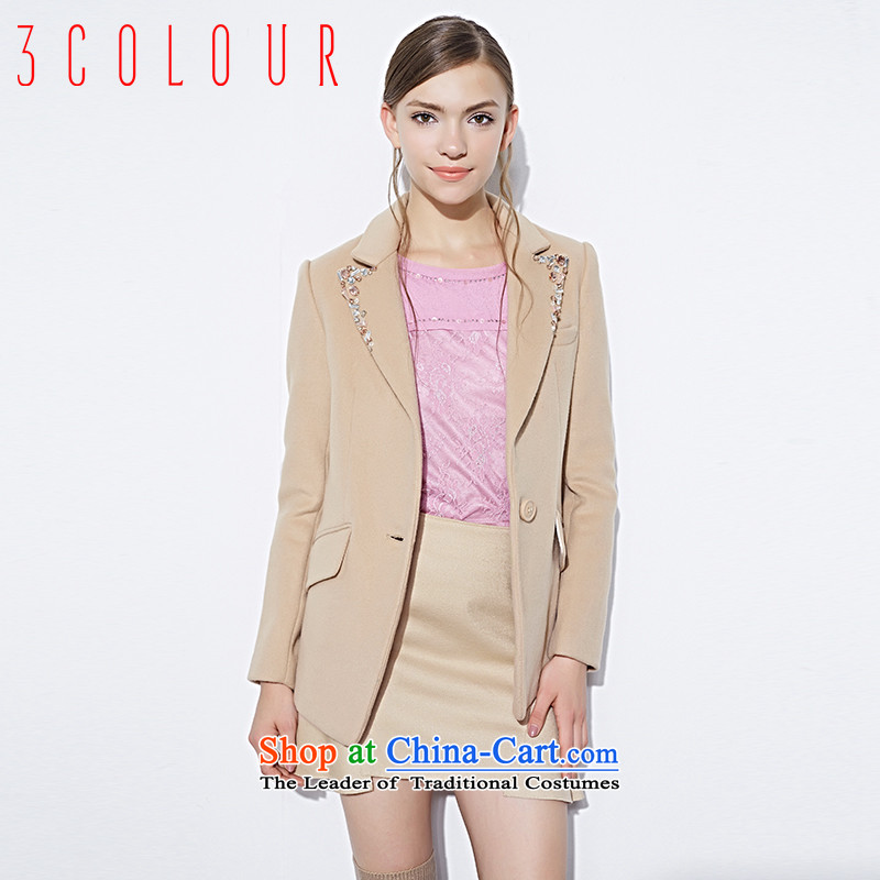 3 Color 2014 Autumn replacing mall with new handsome suit-thin coat S143371D20 short female light coffee L/165/88a