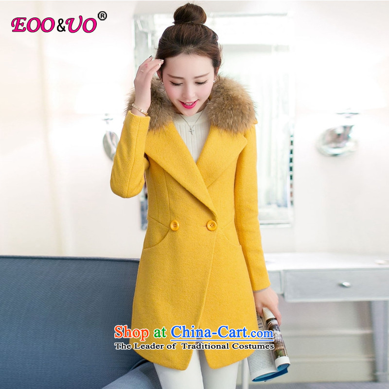 Double-Korea Eoo_uo version? coats female Sau San Mao YS5989 Wong color L