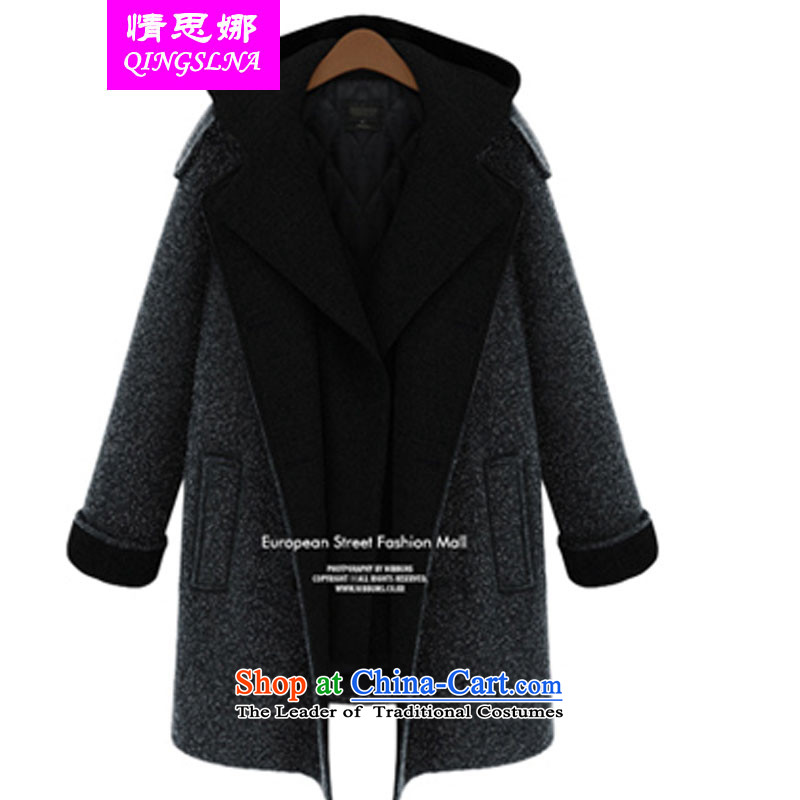In 2014 Winter Nora Western thick mm to xl Female Cap in long warm atmosphere thick hair?? coats dark gray jacket�L