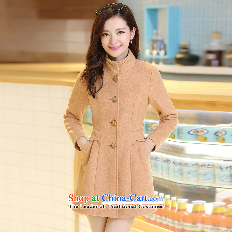 Michelle Gellar of 2 2014 autumn and winter new women's Korea version of the new dual-collar, Stylish coat jacket women? And L