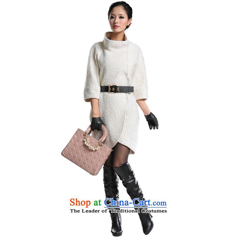 Lamodin2013 autumn and winter jackets for women in the collar of the great circle with leisure? female coats Gross Gross? m White?L-170 jacket to belt