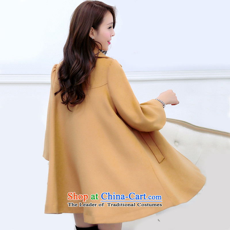 In accordance with the聽2015 autumn and winter new Korean version of the video in Sau San thin long large a wool coat cloak jacket and color聽XXXL, Y239 girl in perfect (yibofei) , , , shopping on the Internet