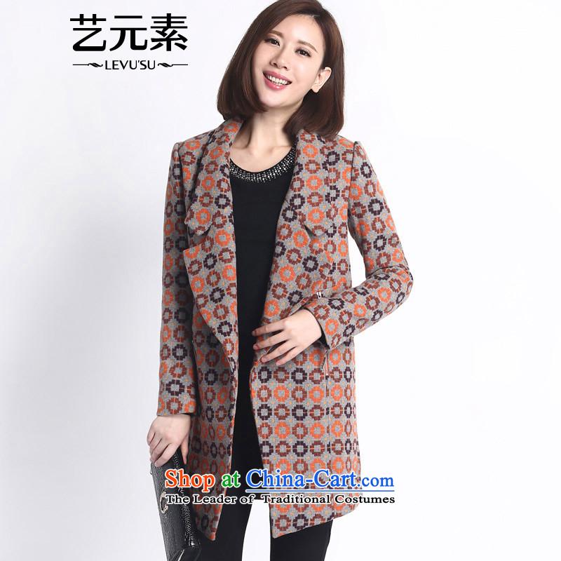 Arts elements for autumn and winter 2015 new lady long-sleeved Sau San fleece gross is short jacket coat E4WAJ075 peel orange SNIPPING MODULE L