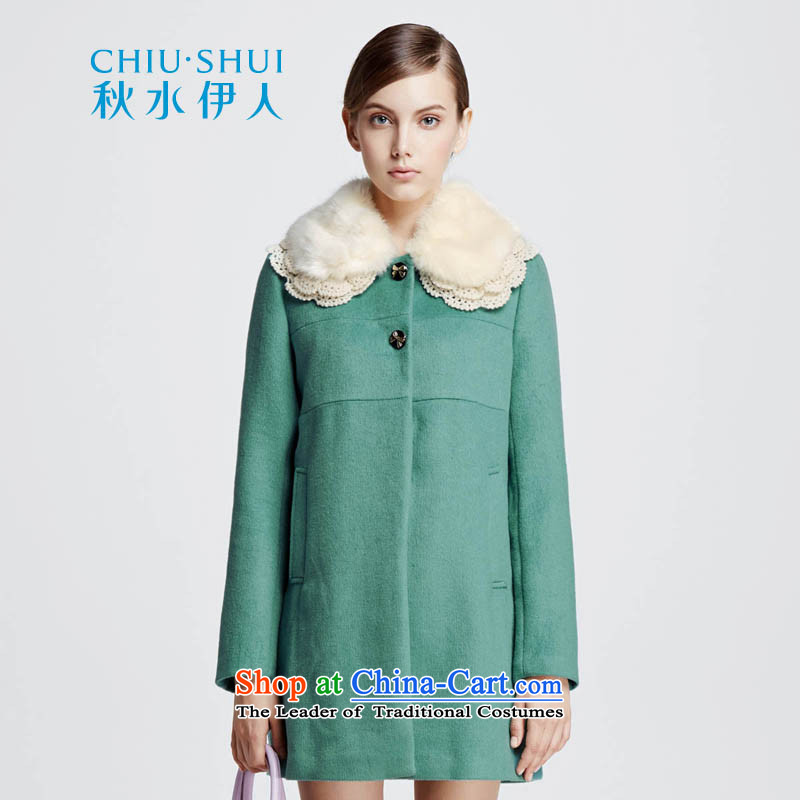 Chaplain who winter clothing new Korean version can be shirked gross for pure color long coats jacket聽634112195 Sau San聽聽155_S green