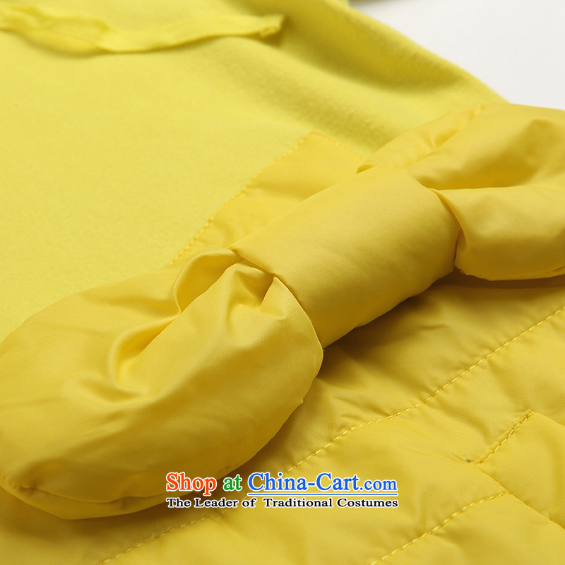 The representative of the water for larger female autumn and winter wild jacket and thick with cap sweater female Korean long-sleeved T-shirt S14DK4111 lemon yellow聽, L water by (SHUIMIAO) , , , shopping on the Internet