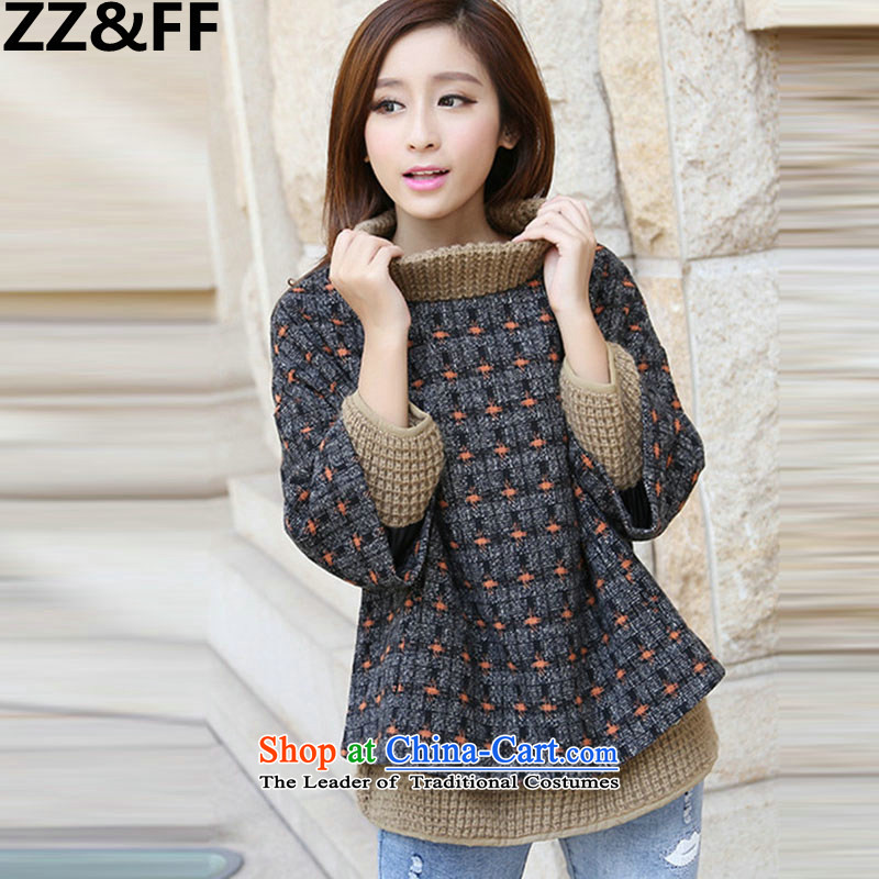 Install the latest Autumn 2015 Zz_ff_ loose reinforcement for larger female thick MM video thin sweater leave two kits and leisure suite head hair? jacket coat bat orange point燣
