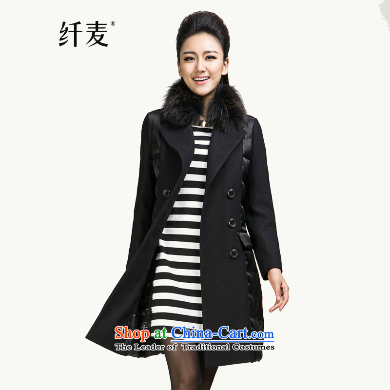 In the former Yugoslavia is indeed intensify code mecca for women 2015 winter clothing new mm thick hair for long down jacket燽lack�L 844121029