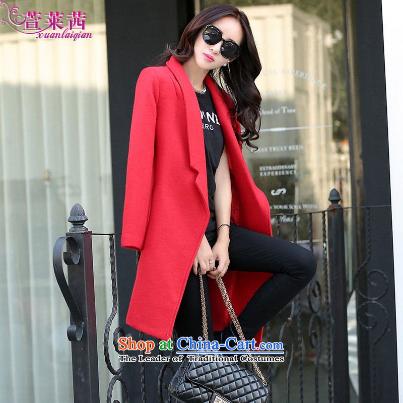 Xuan, Mrs Ure燼utumn 2015 new stylish Sau San? coats that long hair? windbreaker spring female red jacket燤