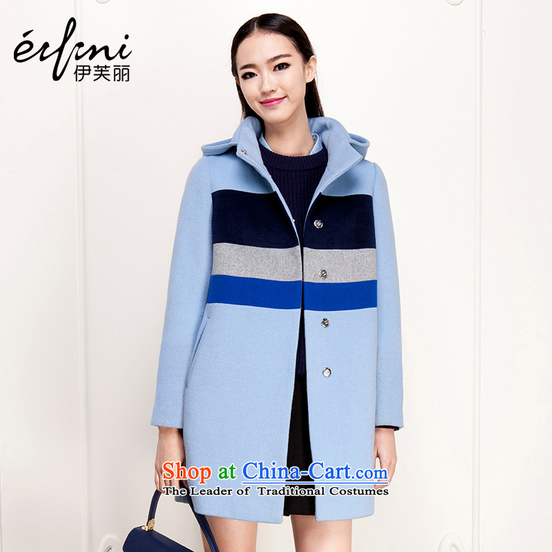 El Boothroyd 2015 winter clothing new Korean Color Plane Collision? jacket coat wool gross 6481037128 light blueL