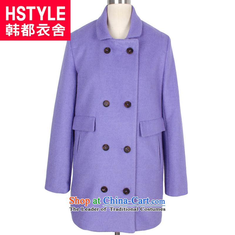 Korea has the Korean version of the Dag Hammarskjöld yi 2015 winter clothing new women's suits for double-jacket YQ3546 gross? Tsat light purpleS