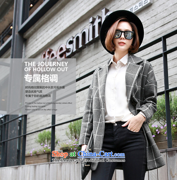 Korea has the Korean version of the Dag Hammarskj枚ld yi 2015 winter clothing new women's compartment long jacket OW4409 gross? NT 2.7 Gray聽L picture, prices, brand platters! The elections are supplied in the national character of distribution, so action, buy now enjoy more preferential! As soon as possible.