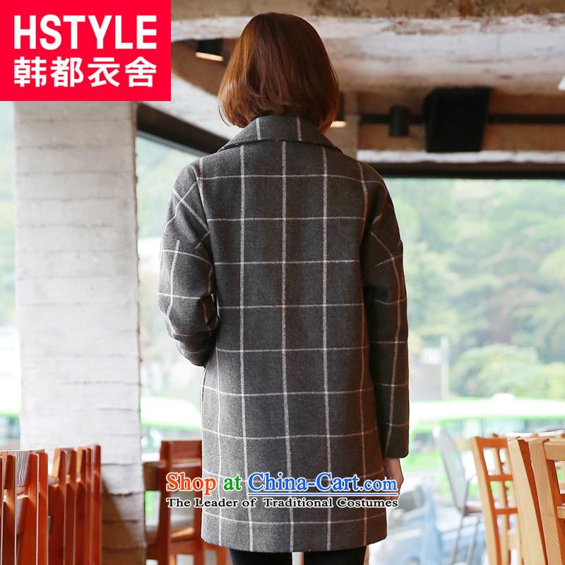 Korea has the Korean version of the Dag Hammarskj枚ld yi 2015 winter clothing new women's compartment long jacket OW4409 gross? NT 2.7 Gray聽L, Korea has Yi Homes , , , shopping on the Internet