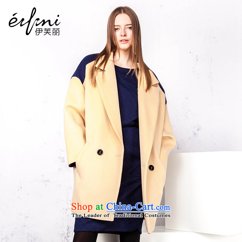 X el Boothroyd 2015 new Korean knocked color stitching wool coat jacket 14093457323 is a lightXL