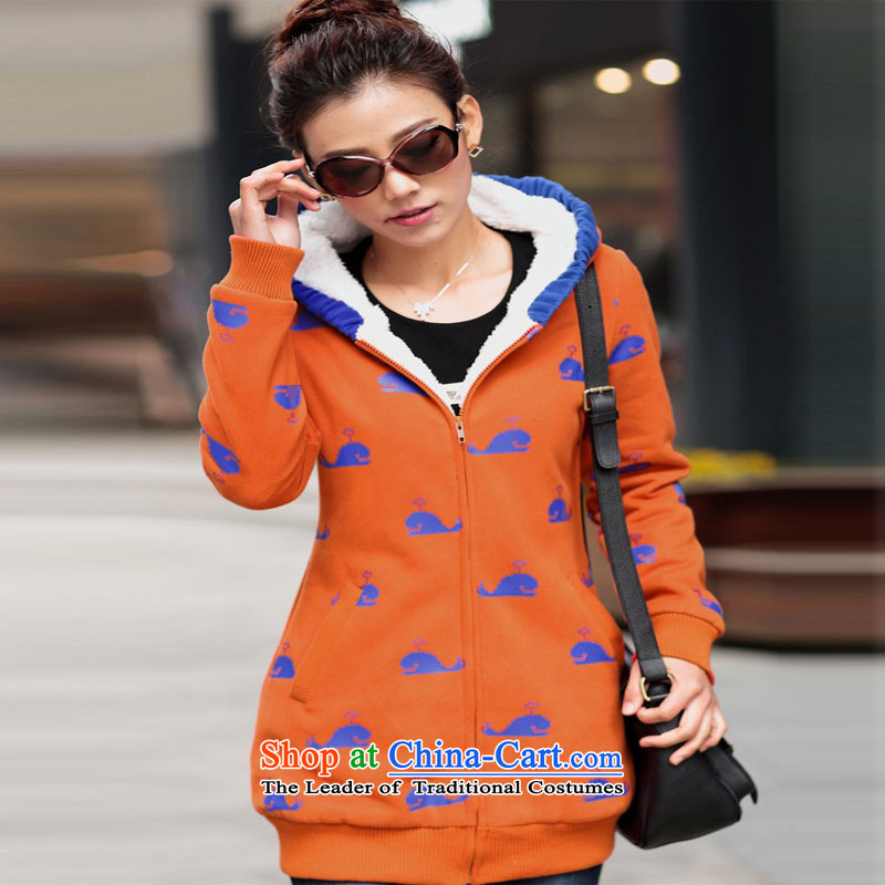 Yoon Elizabeth Odio Benito 2015 winter clothing new larger female sweater Korean Lamb Wool Velvet ãþòâ warm Jacket Card thick loose sweater cardigan 2079 Dark Blue Dolphin 4XL recommendation 170 around 922.747, Yoon Elizabeth Odio Benito (yinlsabel) , , , shopping on the Internet