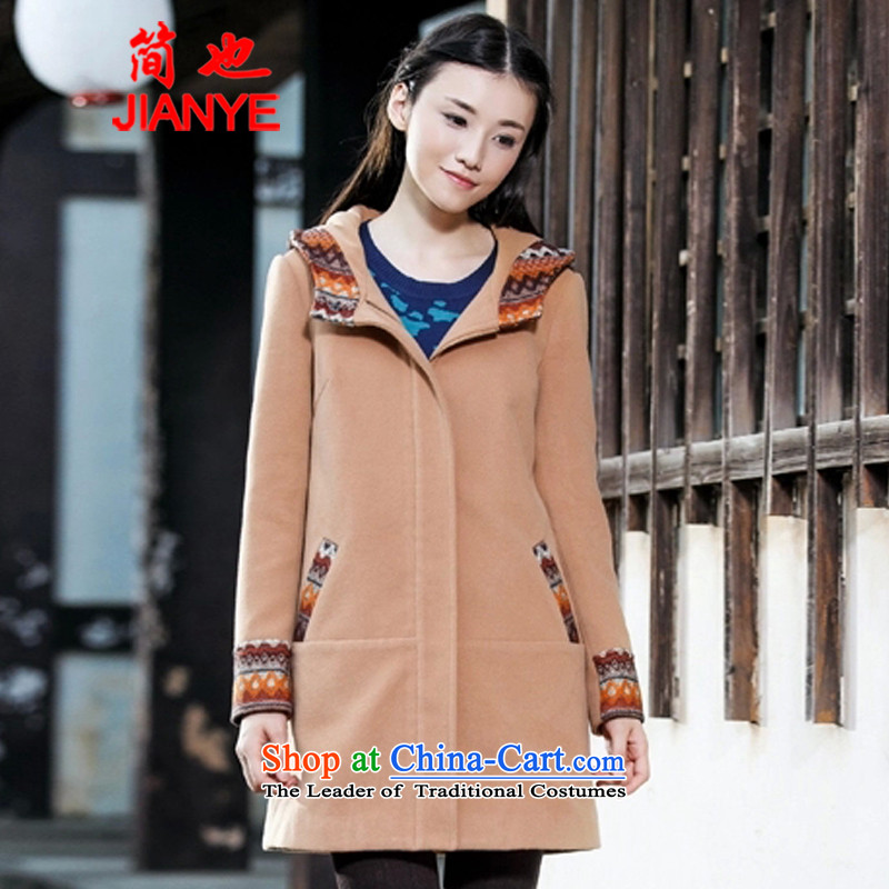 Jane can also� fall and winter 2014 new arts with cap for leisure long-sleeved jacket female 2229_ gross? representation color燣