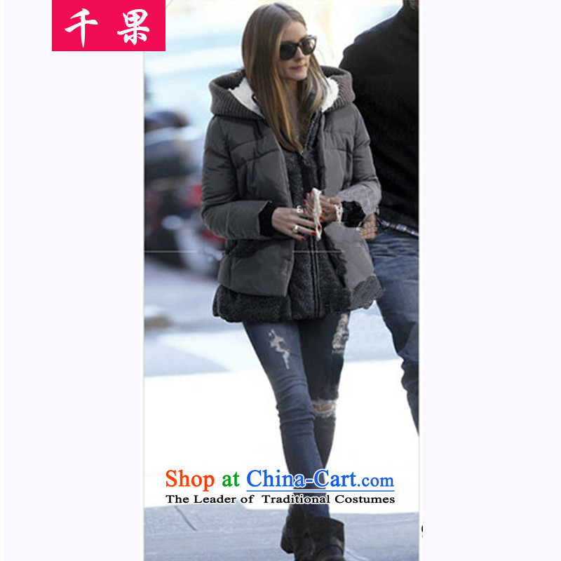 The results of the聽2015 winter clothing to Europe and the new xl female thick cotton coat jacket video thin聽200 catties thick cotton clothing large     mm carbon聽5XL 819