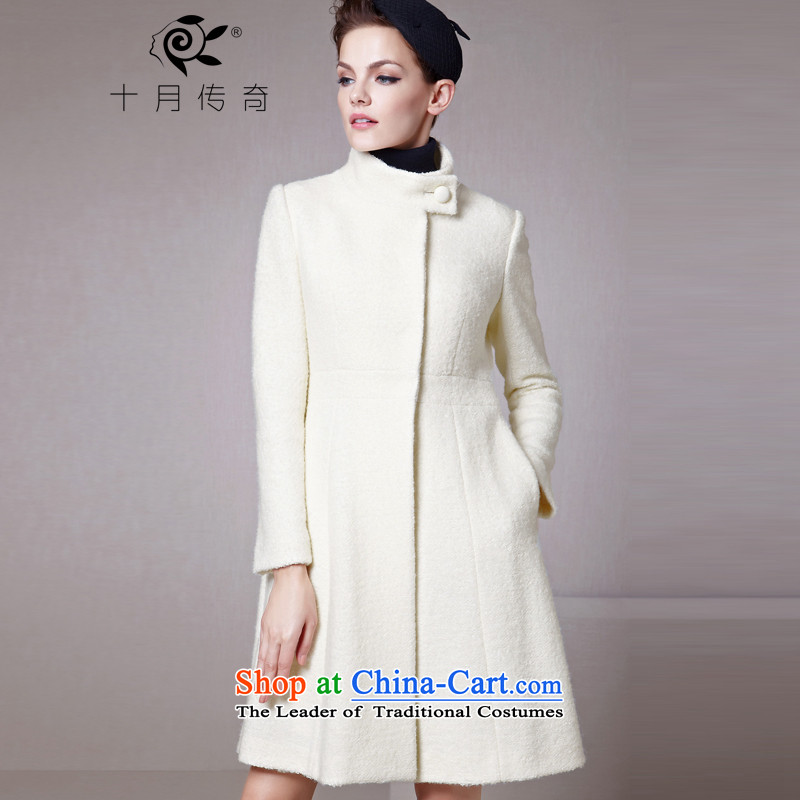 The legend of the fall and winter season October new small wind-white collar Foutune of a swing in the plush coat female white?XL?