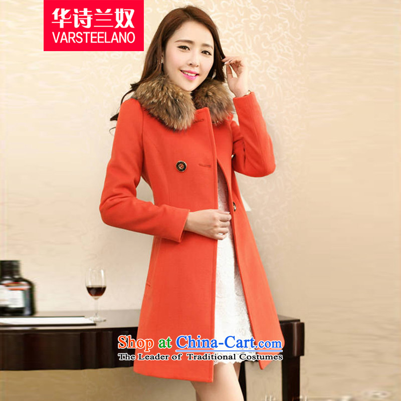 China, 2015 winter clothing on Slavery New Women Korean Sau San?? coats jacket gross B008 ORANGEXL