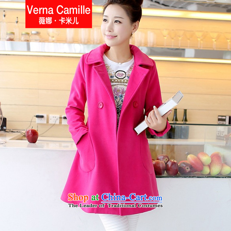 Gross? female Korean version of the jacket long coats gross? female a T-shirt by red L