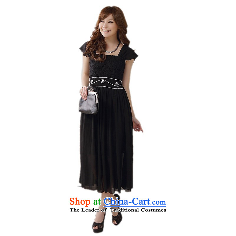 The land is still of Yi Package Mail female long skirt the new mm thick snow woven dresses to xl shoulders wedding dress skirt bridesmaid sister evening dress annual dress code are approximately 90-115 black catties