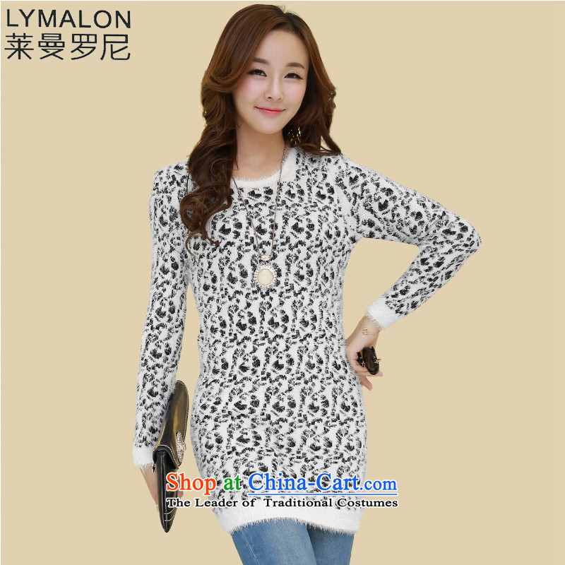 The lymalon Lehmann 2015 winter new women's micro-stretch to warm and stylish ultra edition mohair long-sleeved sweater 1161 Black 6XL Coated