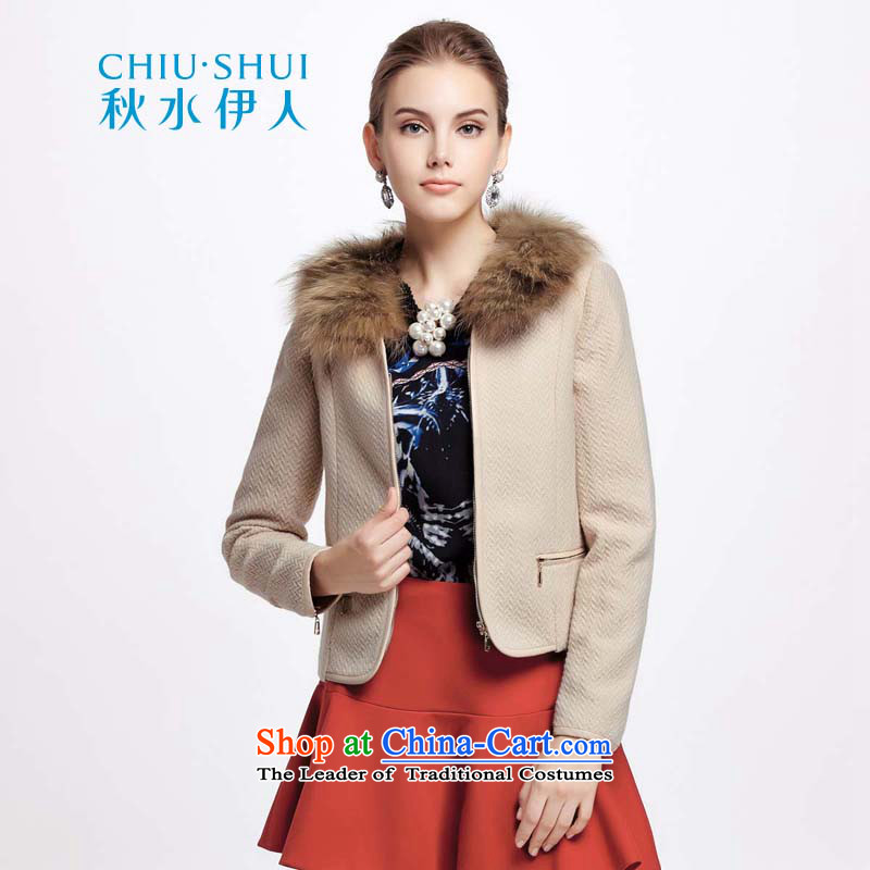 Chaplain who winter clothing new women's campaign for gross sub-leather stitching and coats 1341S120054  170/XL Beige
