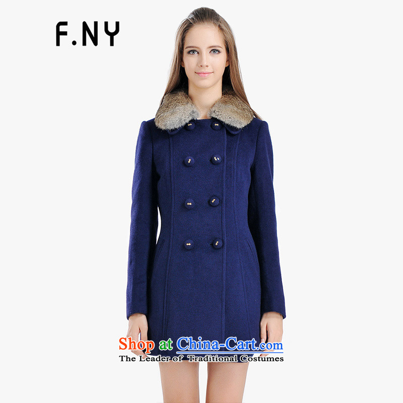 The law of the 2014 Winter Jenny F.NY new available offline-and for improved Maomao collar shape design gross 1431709 jacket? Navy 170_88A_40_L