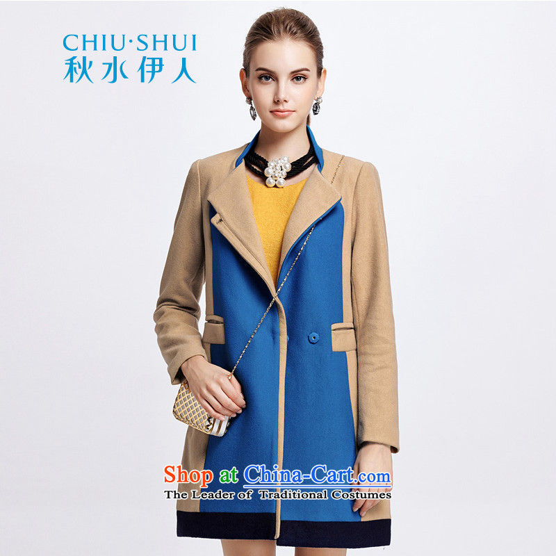 Chaplain who winter clothing new women's stylish color graphics simple knocked thin hair? long coat 1342S122025  155/S Beige Brown