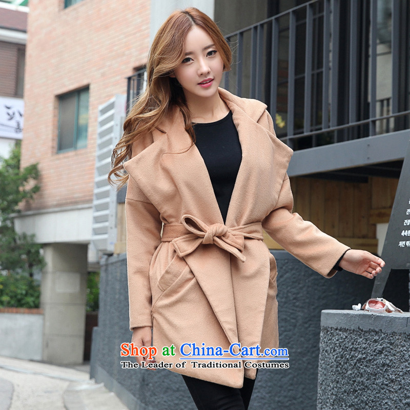 Pure color long hair and color jacket?L