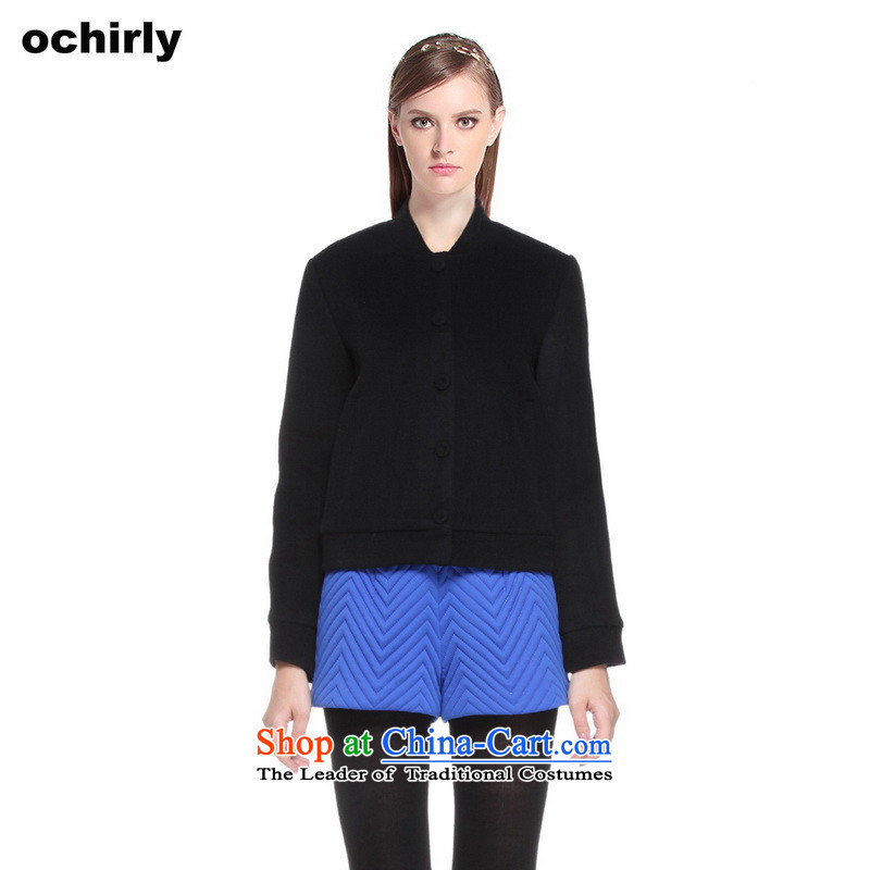 The new Europe, ochirly female Western Pure Color loose baseball services? jacket 1143344060 wool black M_165_88a_ 090