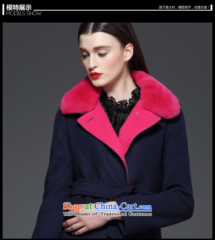 Marguerite Hsichih maxchic 2015 Ms. autumn and winter clothing Washable Wool blend yarn jacket color LED on the Nagymaros knocked? female 13542 gross coats 13532 blue聽L picture, prices, brand platters! The elections are supplied in the national character of distribution, so action, buy now enjoy more preferential! As soon as possible.