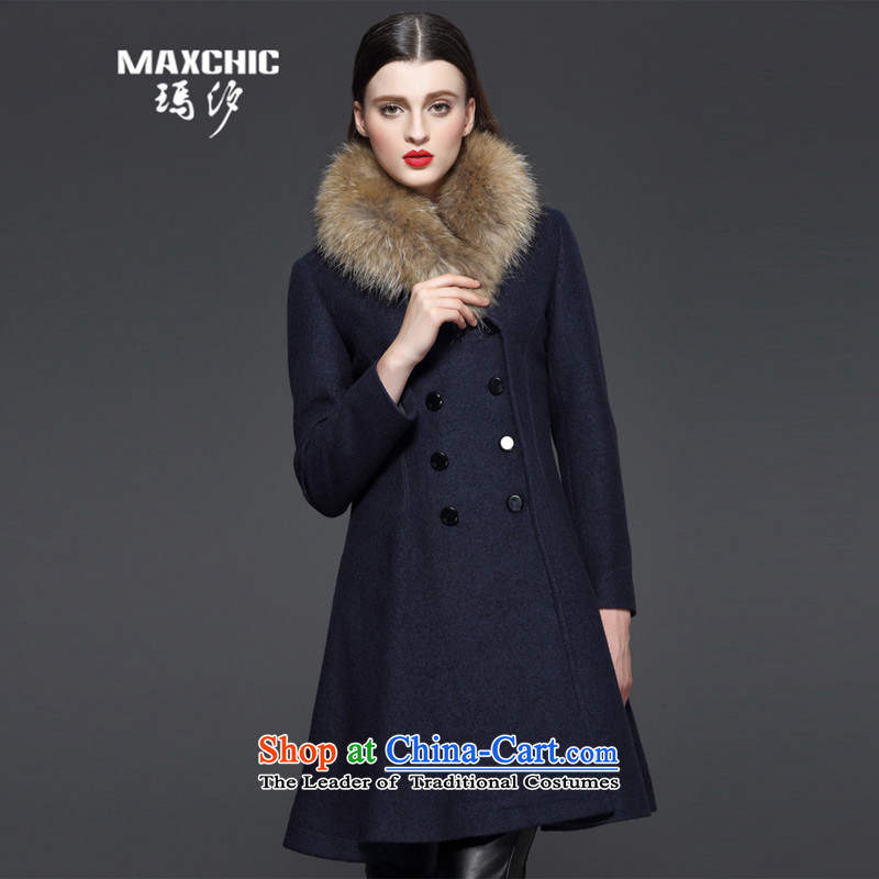 Marguerite Hsichih maxchic 2015 Ms. autumn and winter clothing Washable Wool blend yarn jacket color LED on the Nagymaros knocked? female 13542 gross coats 13532 blue L
