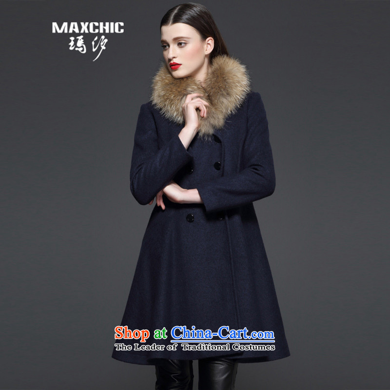Marguerite Hsichih maxchic 2015 Ms. autumn and winter clothing Washable Wool blend yarn jacket color LED on the Nagymaros knocked? female 13542 gross coats聽, L, Marguerite Hsichih 13532 Blue (maxchic) , , , shopping on the Internet