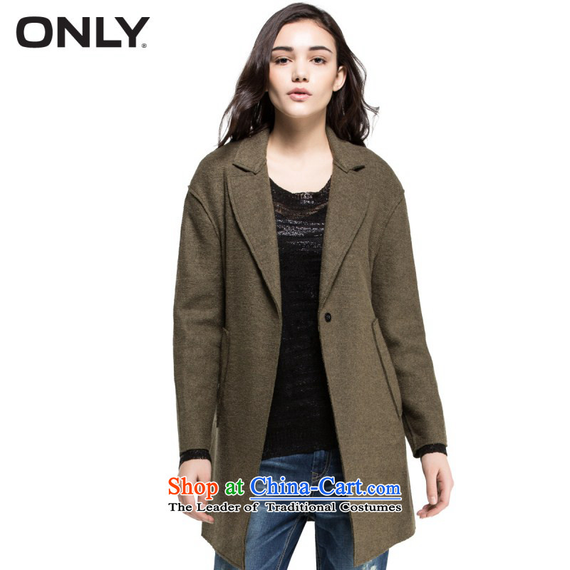 Spring ONLY with new long-sleeved reverse collar in the wool long coats of female T|11514s001? jacket army green聽170_88A_L 043